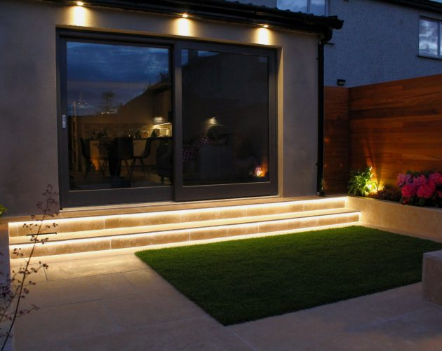 Green Acorn Landscape Design at Night