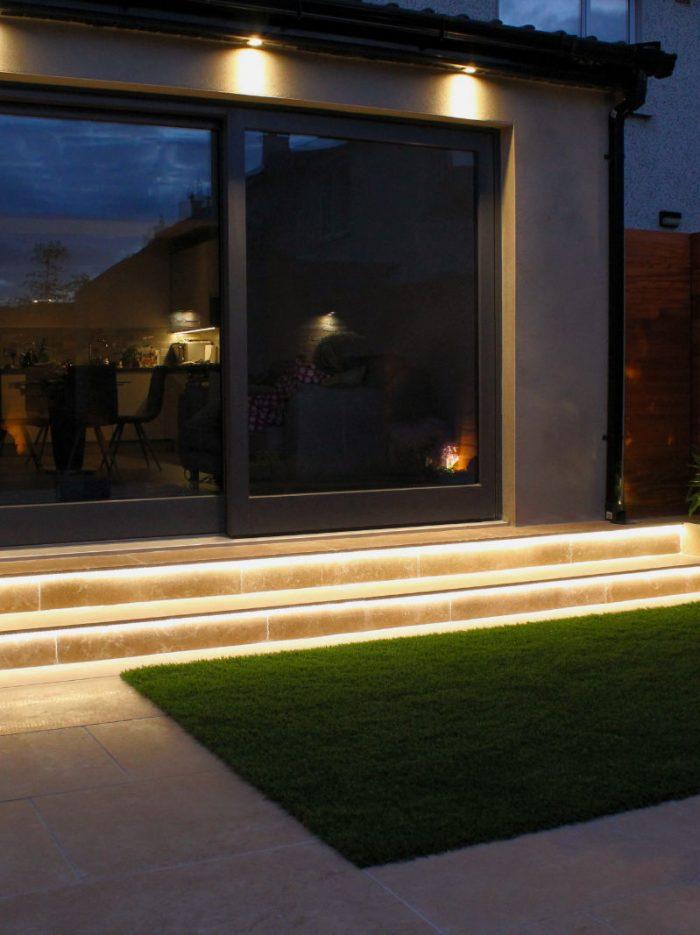 Green Acorn Landscape Design at Night